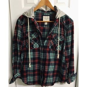 Forever 21 flannel with hood